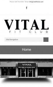Mobile responsive site
