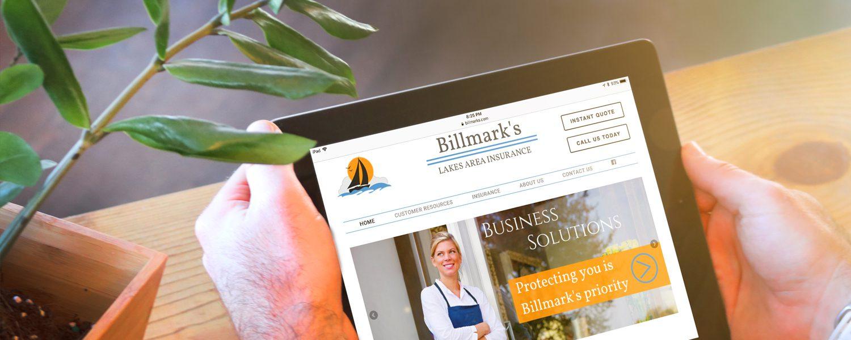 Billmarks website redesign