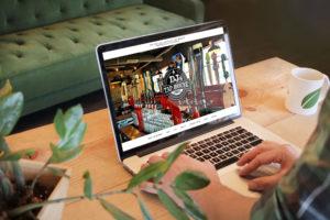 DJ's Tap House website design
