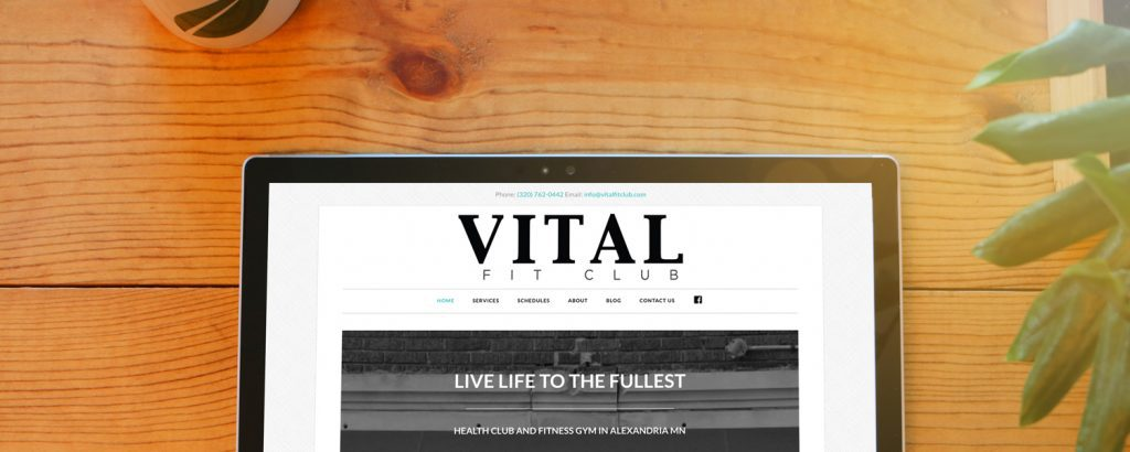 Vital Fit Club website redesign