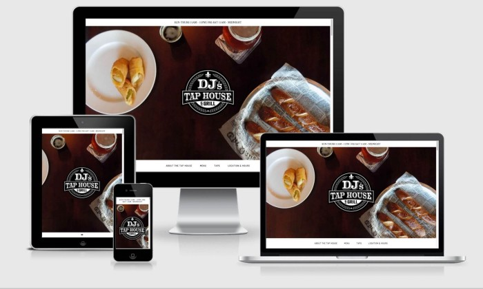 DJ's Tap House Website Design