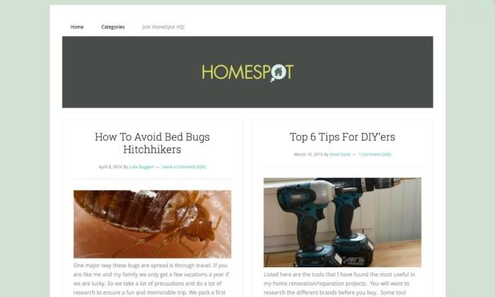 HomeSpot HQ Blog Website Design