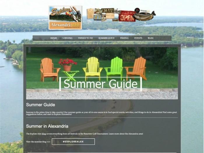 Alexandria MN Tourism Website Redesign