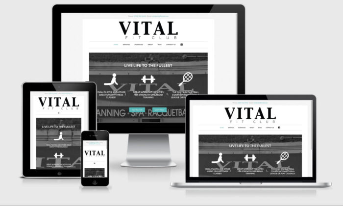 portfolio - Vital Fit Club Website
