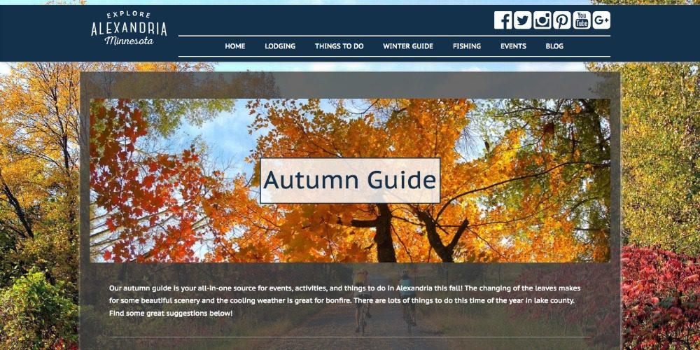 Autumn guide design