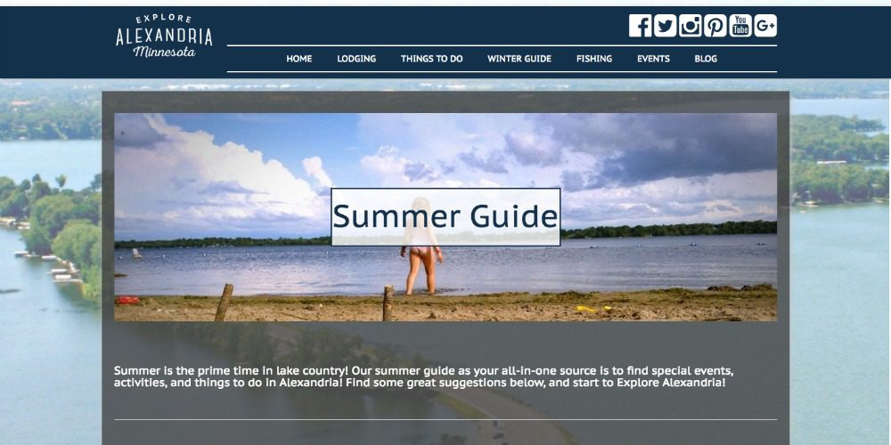 Summer guide design