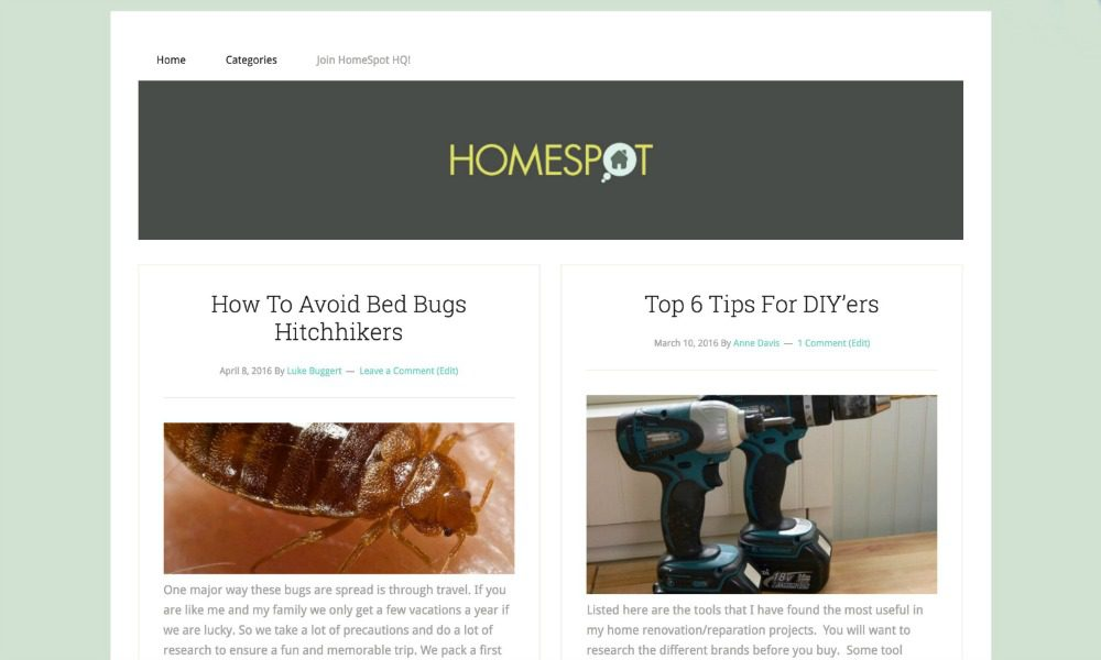 HomeSpot HQ blog screenshot