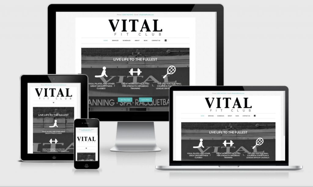 Vital website design