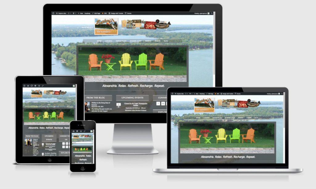 Explore Alexandria Tourism website screenshots