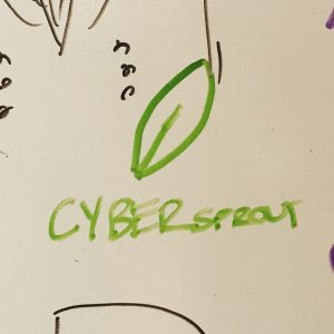 CYBERsprout on a whiteboard