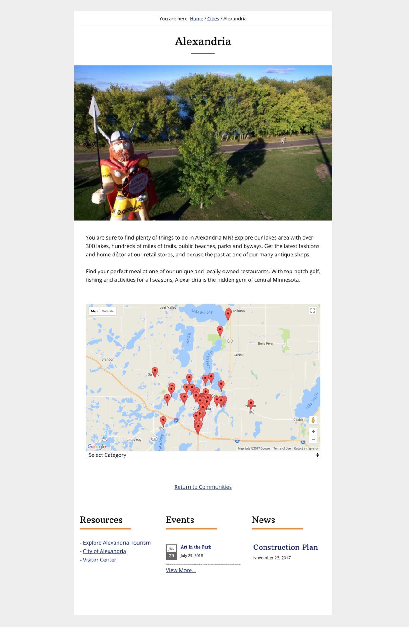 city web design template