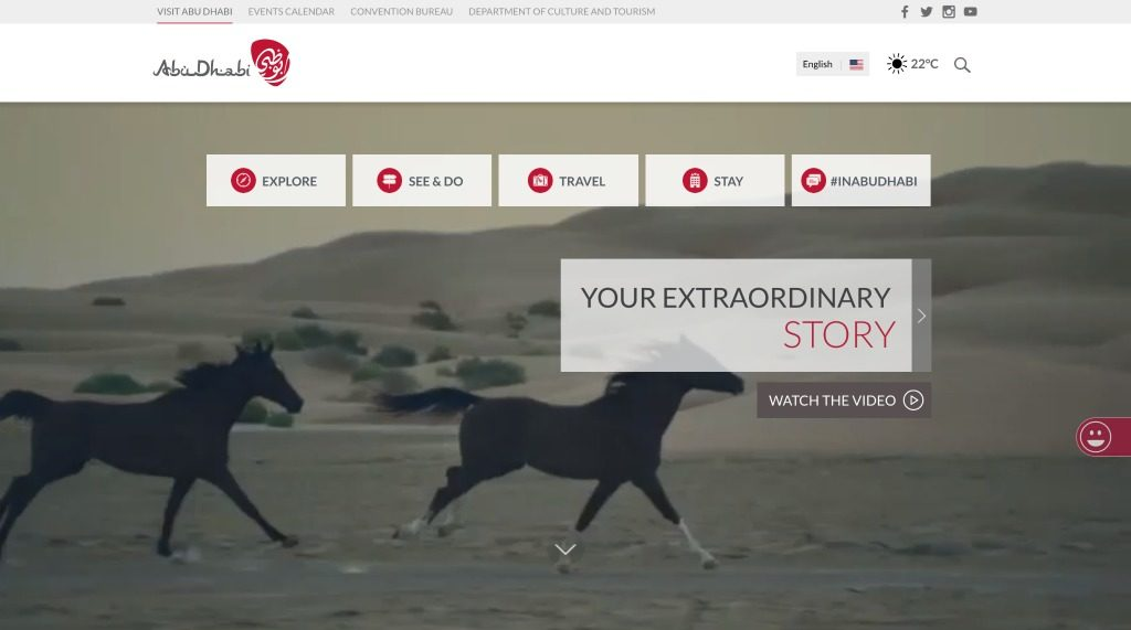 Abu Dhabi's Tourism Website