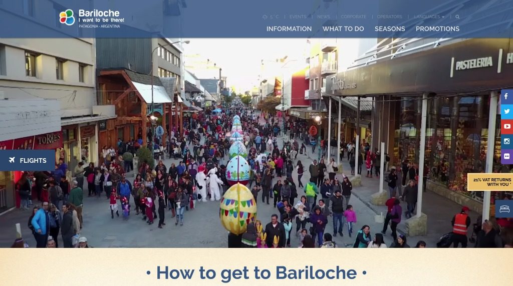 Bariloche tourism website
