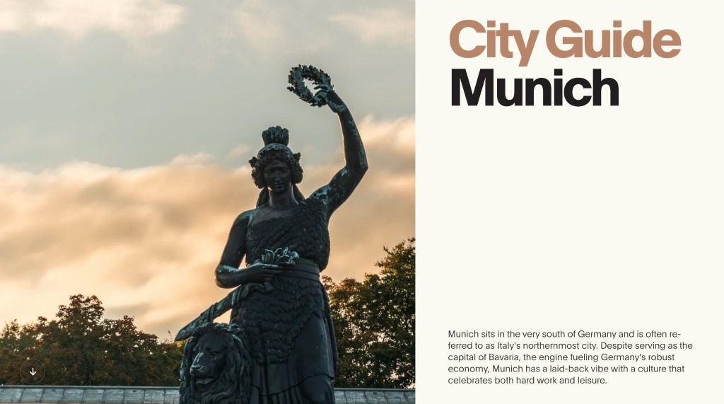 City Guide To Munich Website