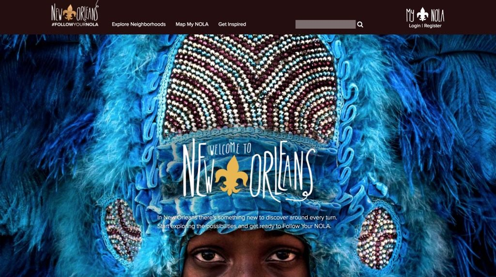 New Orleans Tourism Website