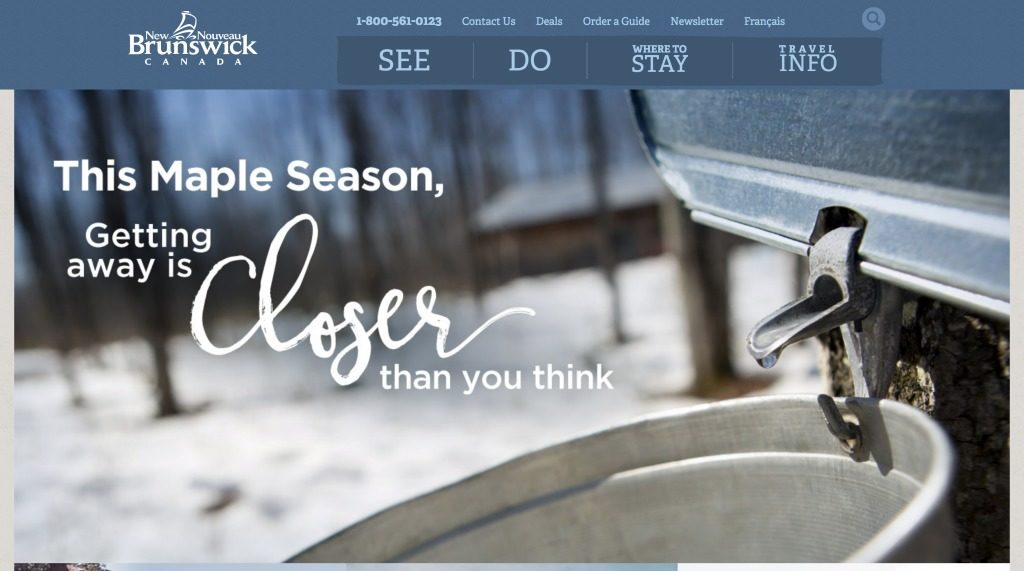 New Brunswick Tourism Website