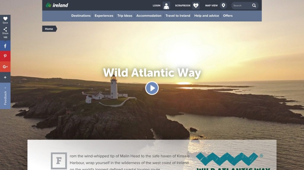 Wild Atlantic - Top Travel Website Design Ideas