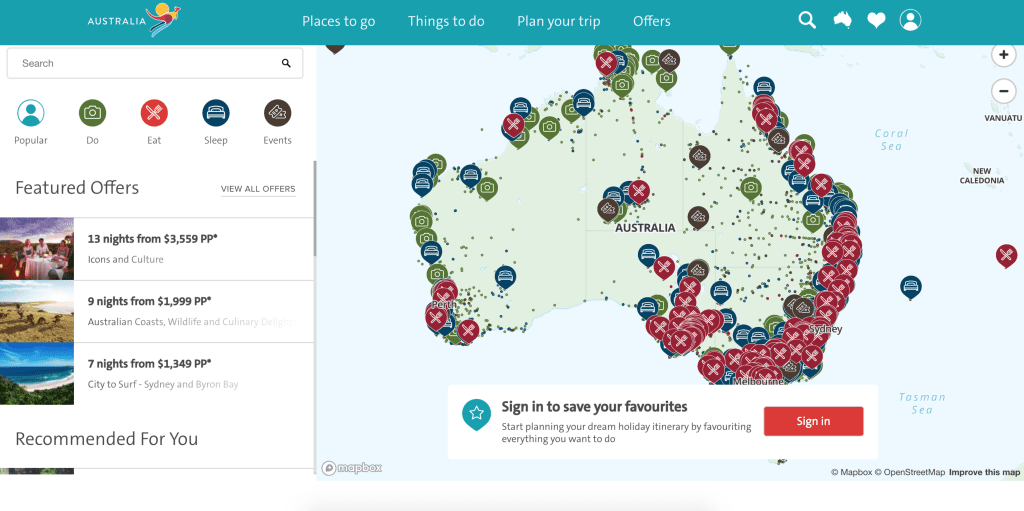 Explore Australia - Tourism Website Ideas