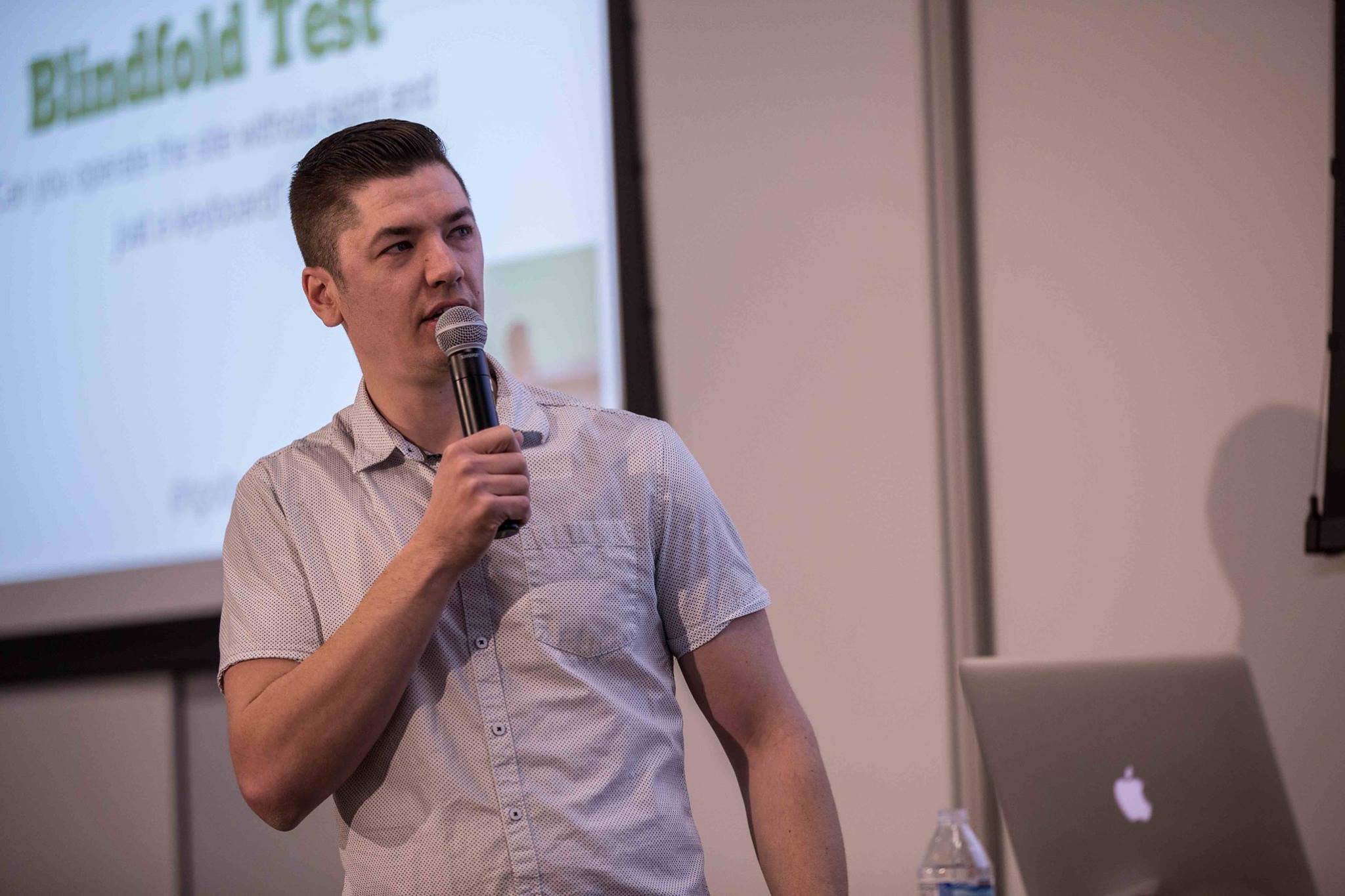 Tyler speaking at WordCamp