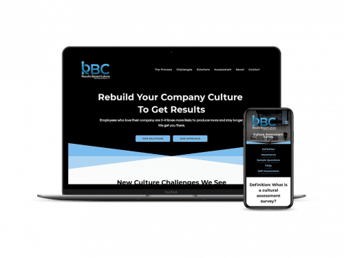 Results Based Culture website on devices