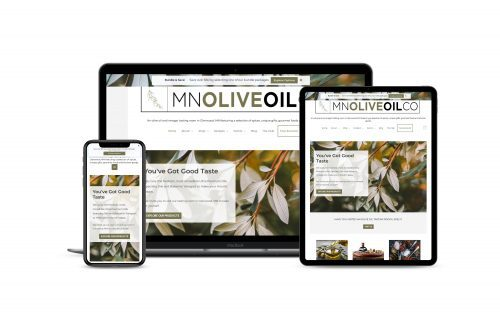 MN Olive Oil Co e-commerce site