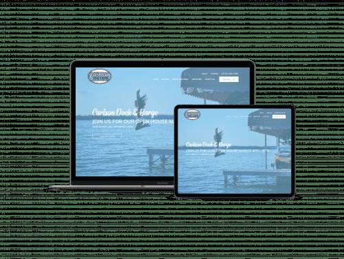 Carlson Dock website design and development mockup