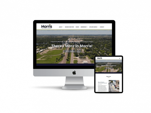 Morris Chamber of Commerce website design