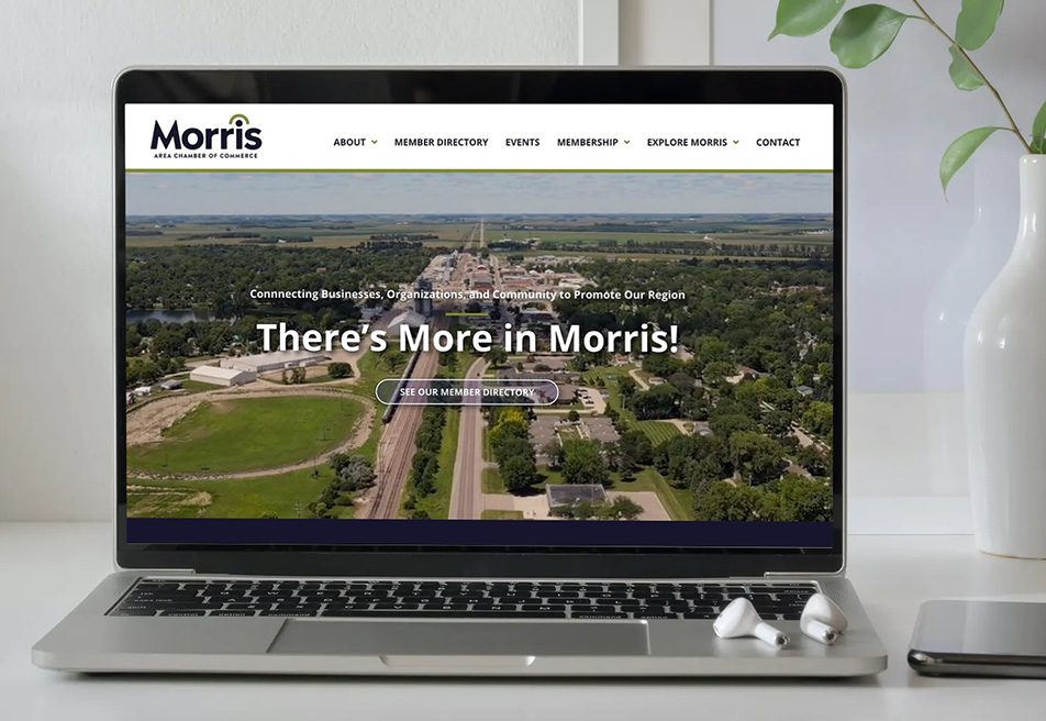 Morris Chamber of Commerce new website design