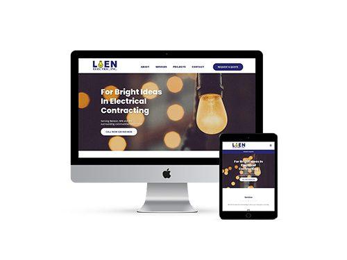 Loen Electric website on multiple devices