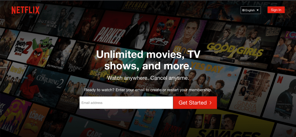 example of value proposition booster from netflix