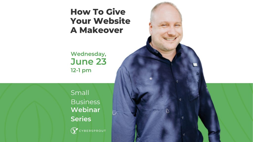 how to give your website a makeover graphic