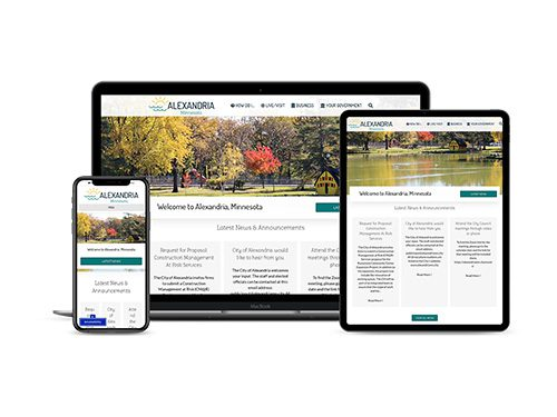 City of Alexandria website on multiple devices