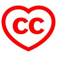 Creative Commons logo heart shape