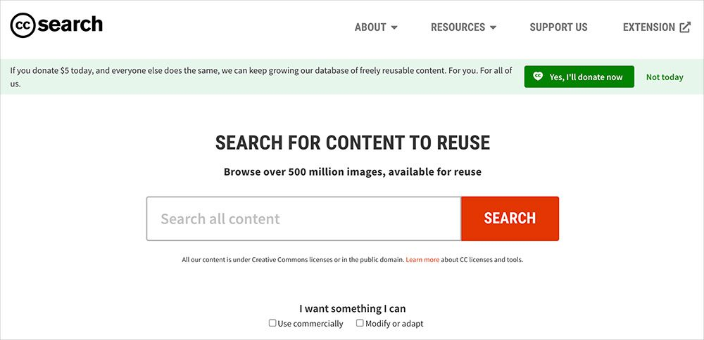 CC Search screenshot