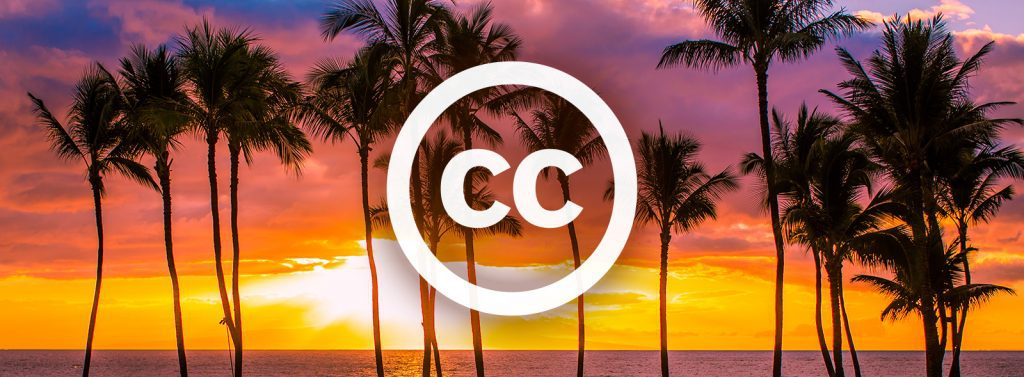 Using Creative Commons Images - Sunset with Palm Trees