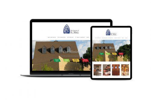 Mockup of St Mary's Church website