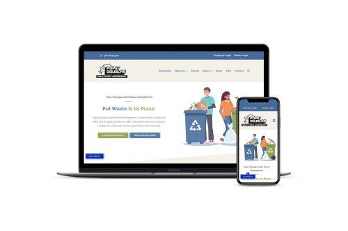Mockup of Pope Douglas Solid Waste Management website