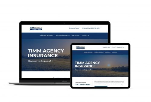 Mockup of Timm Agency website project