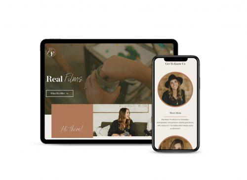 Mockup of Real films web design