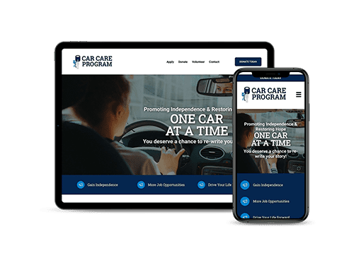 Douglas County Car Care Program website on a tablet and smartphone