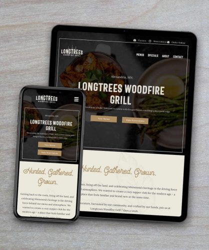 featured client - longtrees restaurant